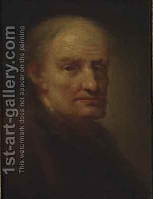 Head of an Old Man by Balthasar Denner - Reproduction Oil Painting