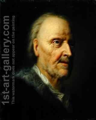 Portrait of an Old Man 2 by Balthasar Denner - Reproduction Oil Painting