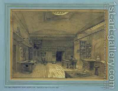 Royal Institution Laboratory by Charles W. Dempsey - Reproduction Oil Painting