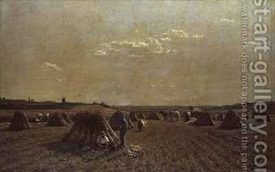 Harvest Scene by Adrien Louis Demont - Reproduction Oil Painting