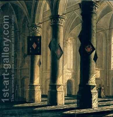 Interior of a Church by Anthonie Delorme - Reproduction Oil Painting