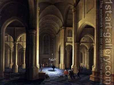 A Church Interior by Anthonie Delorme - Reproduction Oil Painting