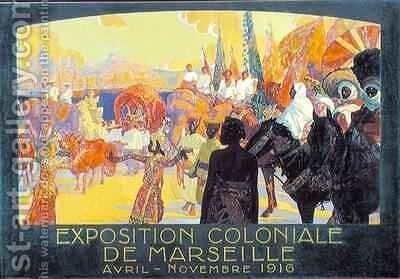 The National Colonial Exhibition Marseille by Davide Dellepiane - Reproduction Oil Painting