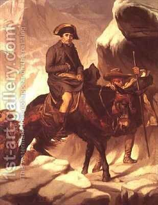 Napoleon Bonaparte 1769-1821 Crossing the Alps by Hippolyte (Paul) Delaroche - Reproduction Oil Painting