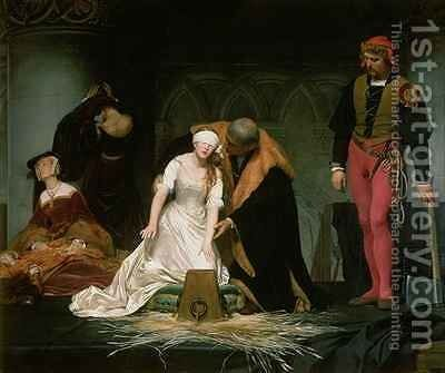 The Execution of Lady Jane Grey by Hippolyte (Paul) Delaroche - Reproduction Oil Painting