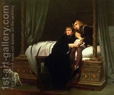 Edward V and the Duke of York in the Tower by Hippolyte (Paul) Delaroche - Reproduction Oil Painting