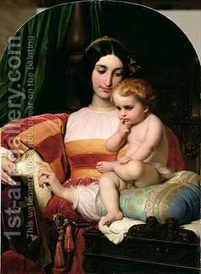 The Childhood of Pico della Mirandola 1463-94 by Hippolyte (Paul) Delaroche - Reproduction Oil Painting