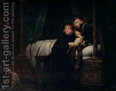 Edward V and the Duke of York in the Tower Les Enfants dEdouard by Hippolyte (Paul) Delaroche - Reproduction Oil Painting