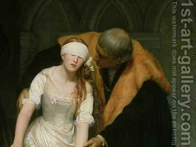 The Execution of Lady Jane Grey 3 by Hippolyte (Paul) Delaroche - Reproduction Oil Painting