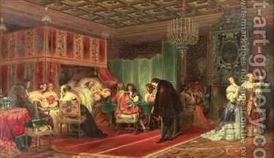 Cardinal Mazarins Last Sickness by Hippolyte (Paul) Delaroche - Reproduction Oil Painting