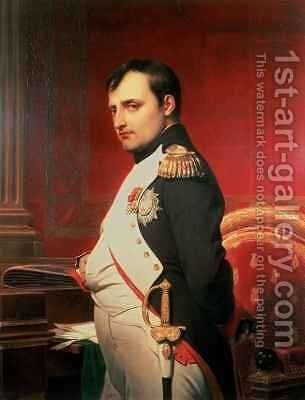 Napoleon 1769-1821 in his Study 2 by Hippolyte (Paul) Delaroche - Reproduction Oil Painting