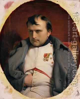 Napoleon 1769-1821 in Fontainebleau by Hippolyte (Paul) Delaroche - Reproduction Oil Painting
