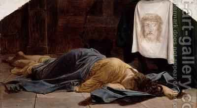 Saint Veronica by Hippolyte (Paul) Delaroche - Reproduction Oil Painting