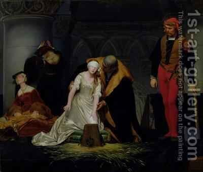 The Execution of Lady Jane Grey 4 by Hippolyte (Paul) Delaroche - Reproduction Oil Painting