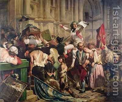 The Conquerors of the Bastille before the Hotel de Ville in 1789 by Hippolyte (Paul) Delaroche - Reproduction Oil Painting