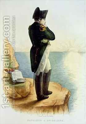Napoleon on the island of Saint Helena by Delaistre - Reproduction Oil Painting