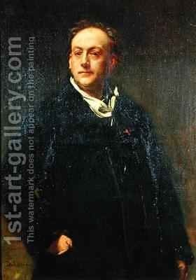 Theodore de Banville 1823-91 by Alfred Dehodencq - Reproduction Oil Painting