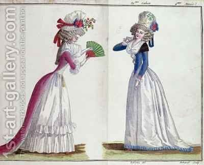 Fashion plate by (after) Defraine, Jean Florent - Reproduction Oil Painting