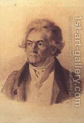Ludwig van Beethoven 1770-1827 by (after) Decker, Johann Stephan - Reproduction Oil Painting