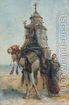 The Desert Ride by Alexandre Gabriel Decamps - Reproduction Oil Painting