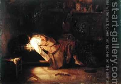 The Suicide by Alexandre Gabriel Decamps - Reproduction Oil Painting