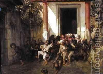 Leaving the Turkish School by Alexandre Gabriel Decamps - Reproduction Oil Painting