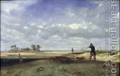 The Hunt by Alexandre Gabriel Decamps - Reproduction Oil Painting