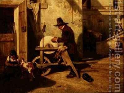 The Knife grinder by Alexandre Gabriel Decamps - Reproduction Oil Painting