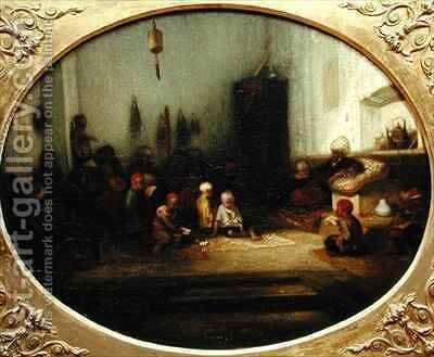 A Turkish School by Alexandre Gabriel Decamps - Reproduction Oil Painting
