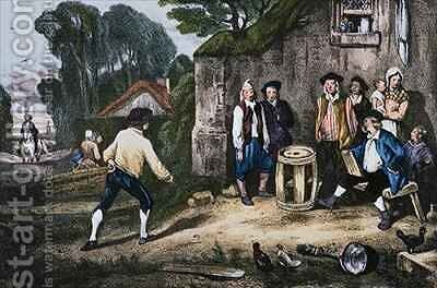 The Barrel Game by (after) Decamps, Alexandre Gabriel - Reproduction Oil Painting