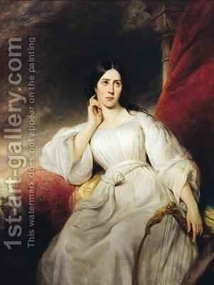 Madame Malibran 1808-36 in the Role of Desdemona by Henri Decaisne - Reproduction Oil Painting