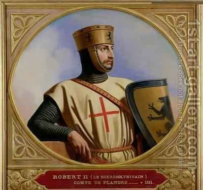 Robert II le Hierosolymitain Count of Flanders by Henri Decaisne - Reproduction Oil Painting