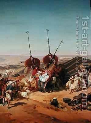 Capture of the Tribe of Abd el Kader 1808-83 by Henri dOrleans Duke of Aumale 1822-97 by Alfred Charles Ferdinand Decaen - Reproduction Oil Painting
