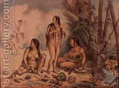 Indigenous Population of Cantagalo by Jean Baptiste Debret - Reproduction Oil Painting