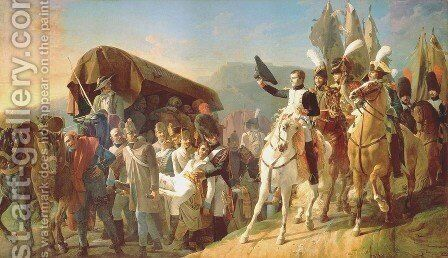 Napoleon 1769-1821 Pays Homage to the Courage of the Wounded by Jean Baptiste Debret - Reproduction Oil Painting