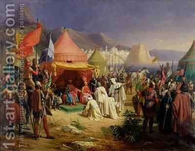 The Taking of Tripoli by Charles Alexandre Debacq - Reproduction Oil Painting