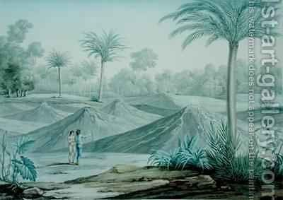 Volcanoes in the region of Turbaco by (after) de Rieux, Louis - Reproduction Oil Painting