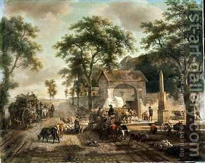 A Road by Jean Louis (Marnette) De Marne - Reproduction Oil Painting