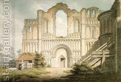 West front of Castle Acre Priory Church near Downham Norfolk by Edward Dayes - Reproduction Oil Painting