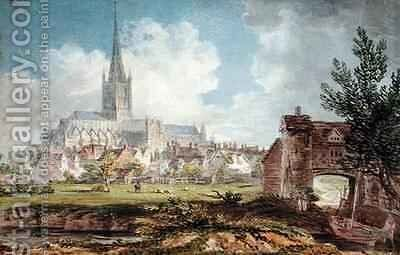 Norwich Cathedral from the South East by Edward Dayes - Reproduction Oil Painting