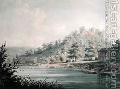 View of Goodrich Castle on the River Wye by Edward Dayes - Reproduction Oil Painting