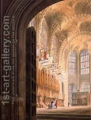 The Henry VII Chapel Westminster by Edward Dayes - Reproduction Oil Painting