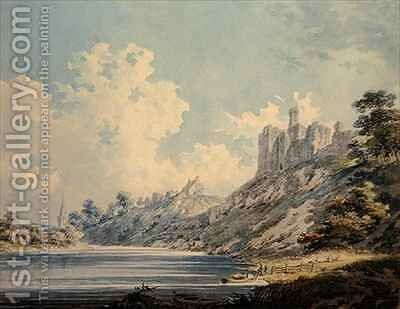 Warkworth Castle by Edward Dayes - Reproduction Oil Painting