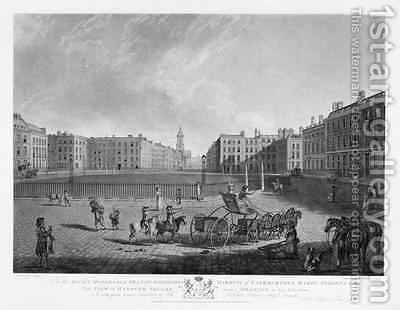 Hanover Square from a set of four views of London squares by (after) Dayes, Edward - Reproduction Oil Painting