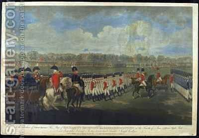The King reviewing the Armed Association in Hyde Park on 4th June 1799 by (after) Dayes, Edward - Reproduction Oil Painting