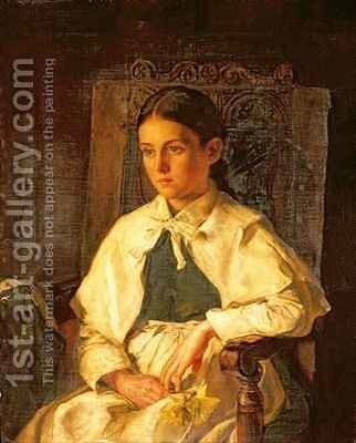 Portrait of a Girl in the Costume of Dr Woodwards School Maidstone by Jane Day - Reproduction Oil Painting