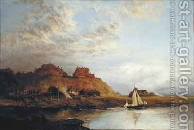 Shipbuilding at Rye by Alfred Dawson - Reproduction Oil Painting