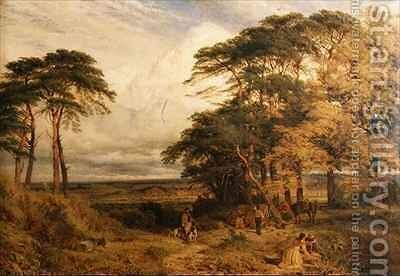 Nottingham from Wilford Hills by Henry Thomas Dawson - Reproduction Oil Painting
