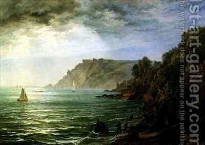 Salcombe Estuary South Devon by Henry Thomas Dawson - Reproduction Oil Painting