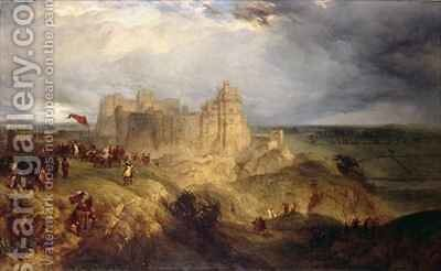 Nottingham Castle King Charles I Raising his Standard by Henry Thomas Dawson - Reproduction Oil Painting